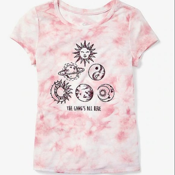 Justice Planets Tie Dye Tee Size 10